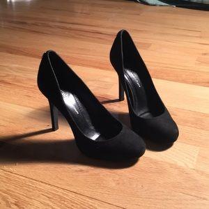 BCBG black leather heels! 5.5